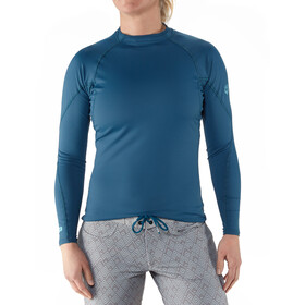 NRS Rashguard Long Sleeve Shirt Dame moroccan blue